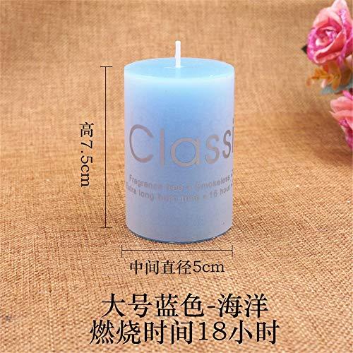 1 stück Dekorative Duft Aromatherapie Kerzen Für Geburtstag Hochzeit Valentinstag Festivals Home Party Dekoration 蓝色 海洋 5×7.5cm -
