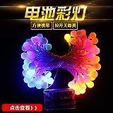 Luces de exterior Led luces decorativas luces redondas cadena cadena star Lights Festival luces de neón, Azul-3 m
