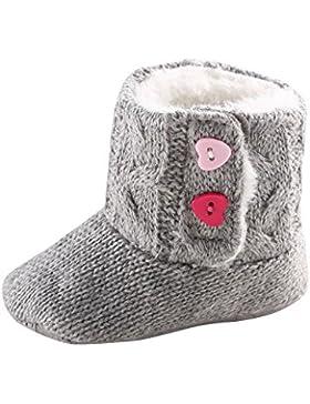 Baby Winter warme Stiefel,BeautyTop Baby Mädchen Weiche Sohle Krippe Warme Herzknopf Wohnungen Gestrickte Stiefel...