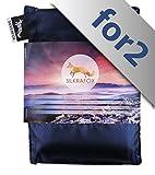 Silkrafox for 2 - ultraleichter Schlafsack für 2 Personen, Hüttenschlafsack, Inlett, Sommerschlafsack, Kunst- Seidenschlafsack in Verschiedenen Farben