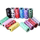 Windy5 10 Rouleau Portable dégradables Pet déchets Pick-Sac Impression Doggy Merde Nettoyons Sac Poubelle à ordures (Couleur aléatoire)