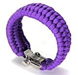 YIYIYYA Männer Und Frauen Hand Armband Taste Zur Einstellung Der Kette Outdoor Not Survival Klettern Camping Sieben Grundlegenden Seil Bracelet