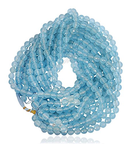 Sky Blue Topaz Color Quartz Faceted Round Ball Loose Gemstone Beads, 6 mm 1 strand sky blue color, jewelry making, wholesale price, prepared exclusively by Ratnagarbha.