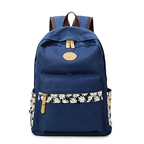 artone-unisex-water-resistant-casual-rucksack-floral-lightweight-school-backpack-with-laptop-compart