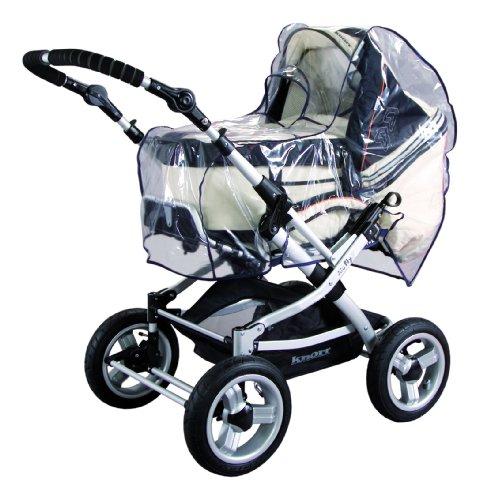 sunnybaby 10495 - Universal Regenverdeck, Regenschutz für Kinderwagen, Schwenkschieber/Umsetzer, Soft-Tragetasche | Kontaktfenster für optimale Luftzirkulation | Qualität: MADE in GERMANY