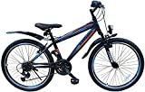 24 ZOLL MOUNTAINBIKE FAHRRAD MIT GABELFEDERUNG & BELEUCHTUNG 21-GANG SHIMANO FASTER BBO -