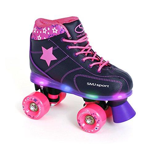 SMJ sport Mädchen Rollschuhe Flash mit LED-Sohle Gr. 33 34 35 36 (35)