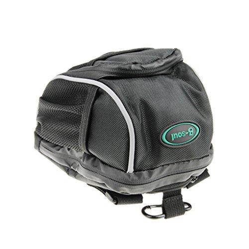 FakeFace Unisex Fahrradtasche Satteltasche Radtasche aus Canvas Werkzeugtasche für Radfahren Radsport Mountainbike (Schwarz) Schwarz 2