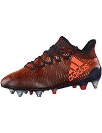 adidas Herren Fussballschuhe X 17.1 SG CBLACK/SOLRED/SORANG 41 1/3