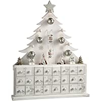 WeRChristmas Wooden Tree Advent Calendar Christmas Decoration, 40 cm - White