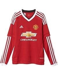 Adidas MUFC H JSY YL - Camiseta para niño, Color Rojo/Blanco