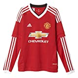 adidas Jungen Langarm Heimtrikot Manchester United Replica, Real Red/White/Black, 152, AC1419