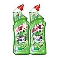 Harpic Toilet Cleaner Liquid Active Fresh Pine 1L Twin Pack