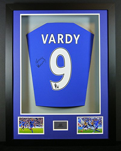Jamie-Vardy-Leicester-City-Signed-Shirt-3D-Framed-Display-with-COA