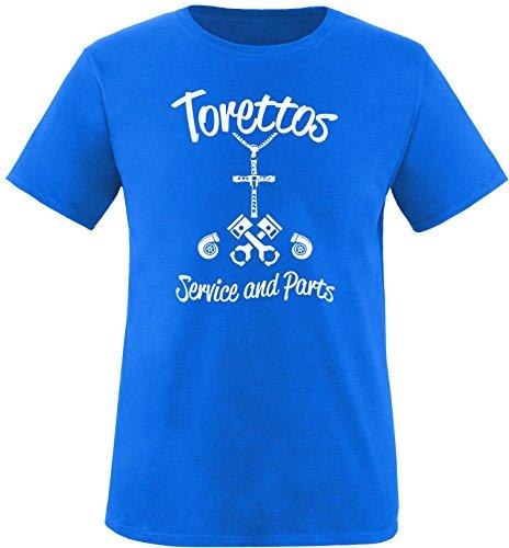 EZYshirt® Torettos service & parts Herren Rundhals T-Shirt Royal/Weiss