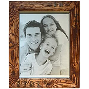 Altholz Bilderrahmen für 30x40cm Bilder, Italy-Style, Echtglas, mit 2 Aufhängungen, jeder Rahmen ein Unikat, Holzfarbe: Mahagoni