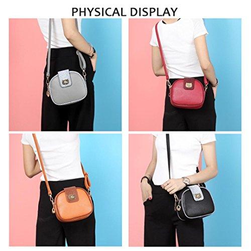 Reasoncool 2017 Confezione da 6 donne dei sacchetti multiuso borsa di cuoio a tracolla della borsa in similpelle Marrone