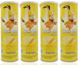 #6: Angry Birds Potato Chips Tangy Cheese Flavor (100 gm Each) - Pack of 4 Snacks Party Pack