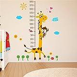 Bomeautify Wandtattoos Wandbilder Cartoon Kinder Baby Höhe Füße Aufkleber Höhe Aufkleber Kinder Schlafzimmer Schlafzimmer Wand Papier abnehmbar, 130 CM