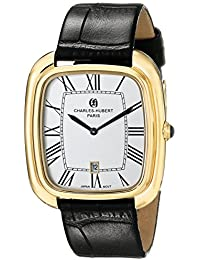 Charles-Hubert, Paris Men's 3963-G Premium Collection Analog Display Japanese Quartz Black Watch