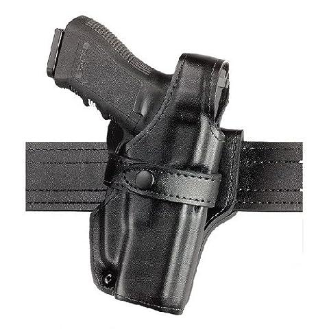 Safariland 070 Level III Retention Duty Holster, Mid-Ride, Black, High Gloss Right Hand, Glock 20, 21, 070-383-91