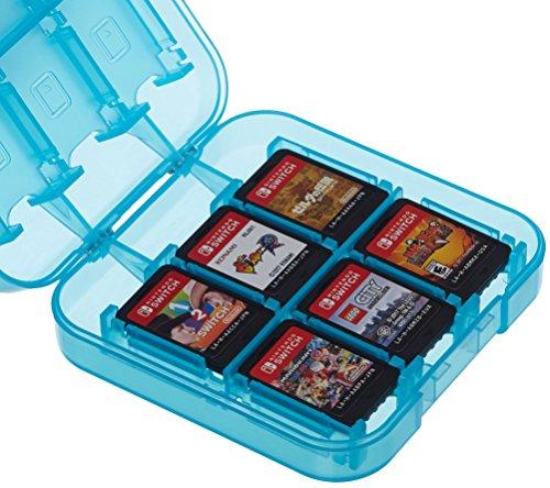 AmazonBasics Étui de rangement pour jeux Nintendo Switch Bleu