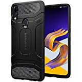 KAPAVER Asus Zenfone 5z Case Premium Tough Rugged Solid Black Shock Proof Slim Armor Back Cover Case for Asus Zenfone 5z (ZS620KL)
