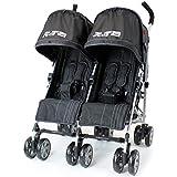 Zeta VOOOM Twin Double Stroller - Black