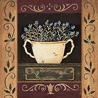 Rosmarino by Moulton, Jo-Stampa su tela in carta e decorazioni disponibili, Tela, SMALL (10 x 10 Inches )