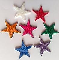 toppa termodesiva-vari colori piccole stelle 6 pezzi iin un set 2.2 cm ogni pezzo