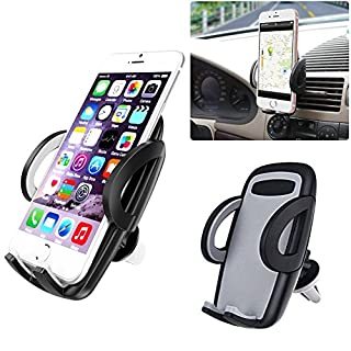 Alohha Universal Air Vent Car Mount Holder with 360 Rotation and Release Button for up to 6 inch Cell Phone iPhone Android Smartphone GPS Device-Black