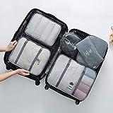 Vestiti Tidy Organizer Pouch Suitcase Travel Bag Set Guardaroba pieghevole contenitore divisori contenitore bagagli 6 PCS-grigio