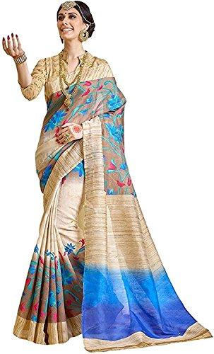 Buyonn Art Silk Bhagalpuri Saree (Ofs1719-Sarees101_Multi-Coloured)