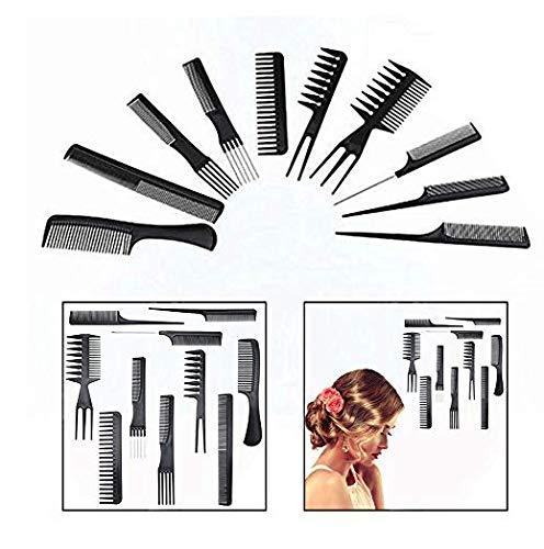 Descripción:  Set de peluquería de 10 piezas Un fantástico juego de 10 piezas diseñado para llevar a cabo todo lo necesario para poder realizar cualquier corte de pelo: cortar, desenredar, peinar, etc... Características Alta calidad. Cada peine ha...