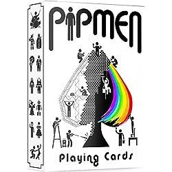 Elephant Playing Cards Cartas ÚNICAS, Baraja Blanca, Fantásticas Cartas Pipmen, Las Mejores Cartas de Póker, Cartas Únicas para Niños y Adultos, Juegos de Barajas de Cartas, Tamaño Estándar
