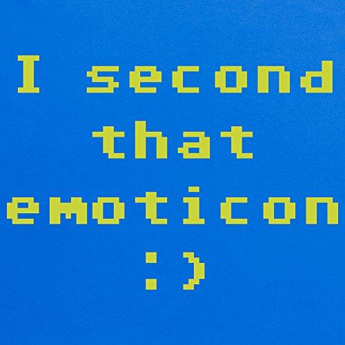 I Second That Emoticon T-Shirt, Damen Royalblau