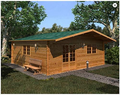Mondocasette Casa Gartenhaus aus Holz - Modell Venta Wandstärke 45 mm 600 x 600 cm, Chalet Bungalow