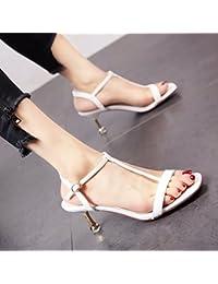 YMFIE In stile europeo estate toad temperamento elegante tacco alto scarpe lady toe toe sandali,38…