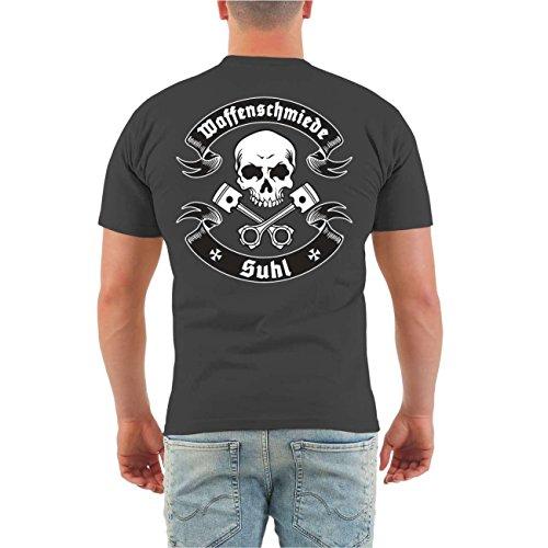 Männer und Herren T-Shirt Ich rieche verbrannte Wade (mit Rückendruck) Größe S - 8XL Aschgrau