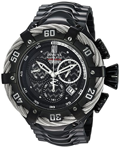 Invicta Men's 'JT' Quartz Stainless Steel Casual Watch, Color:Black (Model: 22178)