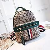 WOAIRAN Umhängetasche Frauen Vintage Druck Handtasche Damen Freizeit Streifen Multifunktions Reiserucksack