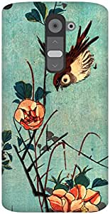 The Racoon Grip Titmouse and Camellias hard plastic printed back case / cover for LG G2
