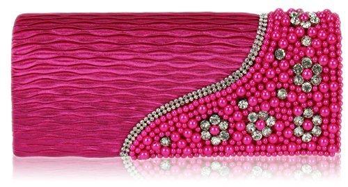 Il Partito Di Sera Delle Signore Di Trendstar Ha Bordato Le Belle Borsette Di Cristallo Decorative Belle Delle Borse Rosa