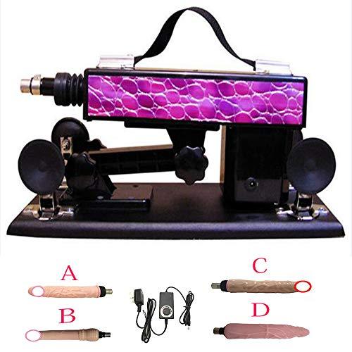 QINFENG Rétractable Machine Gun Love Sexy Full Rod Accessoires Gode réaliste Plug Sex Machine (Violet)