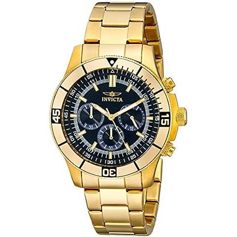Invicta Watch - Reloj cronógrafo de cuarzo unisex con correa de acero inoxidable, color dorado