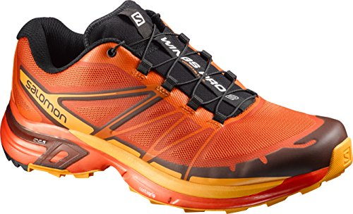 Salomon Wings Pro 2, Chaussures de Running Entrainement Homme tomato red-clementine-x-yellow-gold