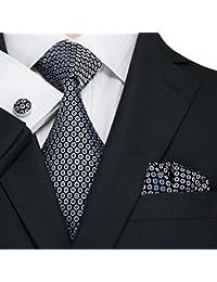 landisun Geometric Pattern - Set De Cravates - Homme