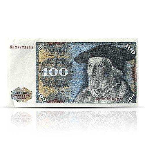 4 x Papier-Taschentuch 100 DM-Note - 10er Pack