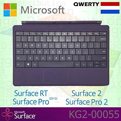 Microsoft Surface RT/Pro (2012)/2/Pro 2Type Cover Niederlande QWERTY Tastatur mit Backlit Schlüssel–Violett–OEM Box (Keine Einzelhandelsverpackung)