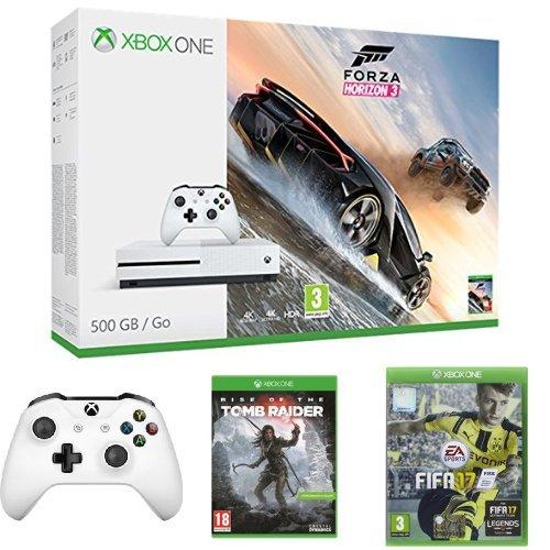 Xbox One S 500GB + Forza Horizon 3 + Controller + Rise of Tomb Rider + FIFA 17
